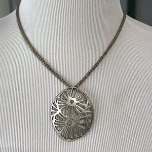 22- silver flowering necklace